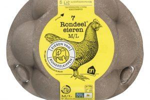 Circulair eierdoosje Rondeel gemaakt van reststroom uit de patat fabrieken